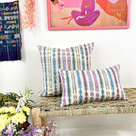 Archive New York Manuela Jaspé Pillow - Grey Rainbow