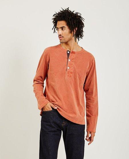 Freenote Cloth 13 Ounce L/S Henley - Rust