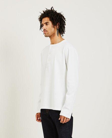 Freenote Cloth 13 Ounce L/S Henley - White