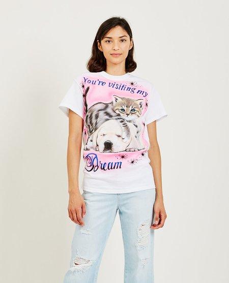 Ashley Williams Kitten and Puppy Tee - White