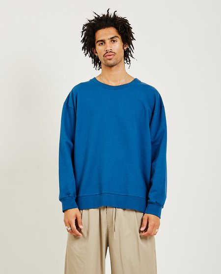 GREI. Loose Crew Gusset Sweatshirt - Ocean Blue