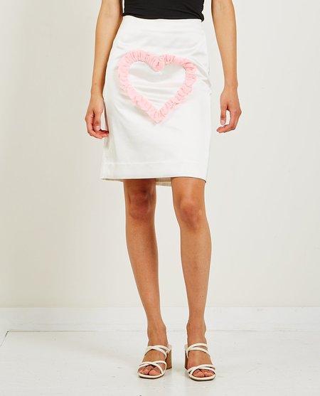 Ashley Williams Love Me Skirt - White