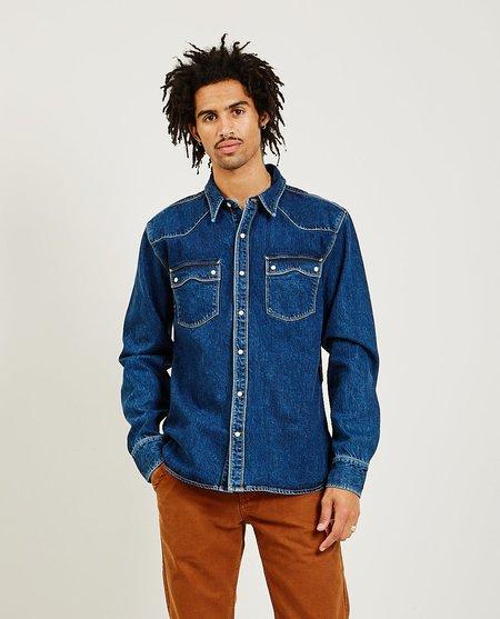Freenote Cloth Modern Western Shirt - Stonewash Blue