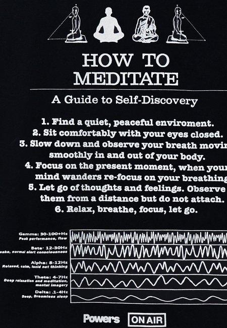 Powers Meditation T-Shirt - Black