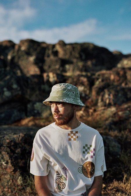 Lite Year Hawaiian Print Bucket Hat - Sage