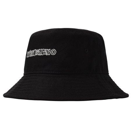 Stussy Canvas Wide Brim Bucket Hat - Black