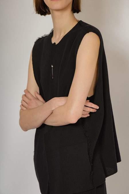 Oyuna Kwa Knitted Sleeveless Jacket - Panther