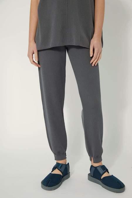 Oyuna Sedi Knitted Jacquard Trousers - Shadow