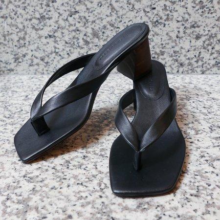 Mari Giudicelli Luiza Calf Sandal - Black