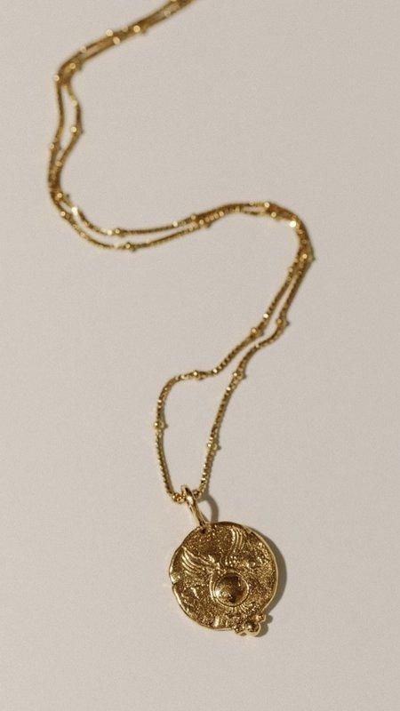 Pamela Card Golden Shield Necklace