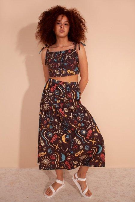 L.F.Markey Sawyer Skirt - Clay Print
