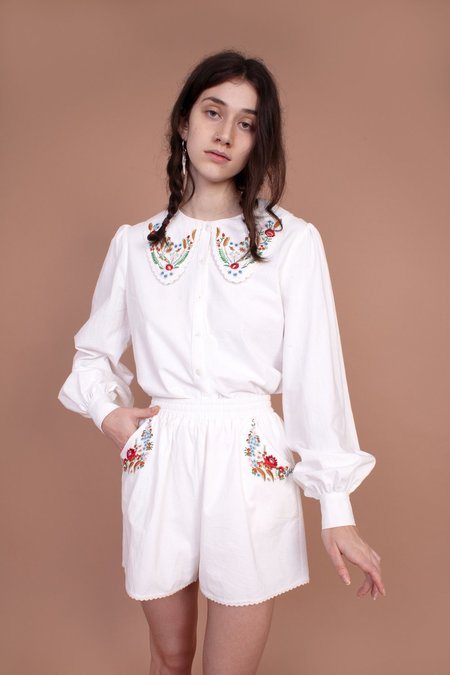 Meadows Foxglove Shirt - White