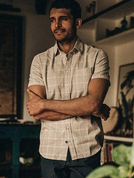 Taylor Stitch The Short Sleeve Jack Button Up - Ash Madras