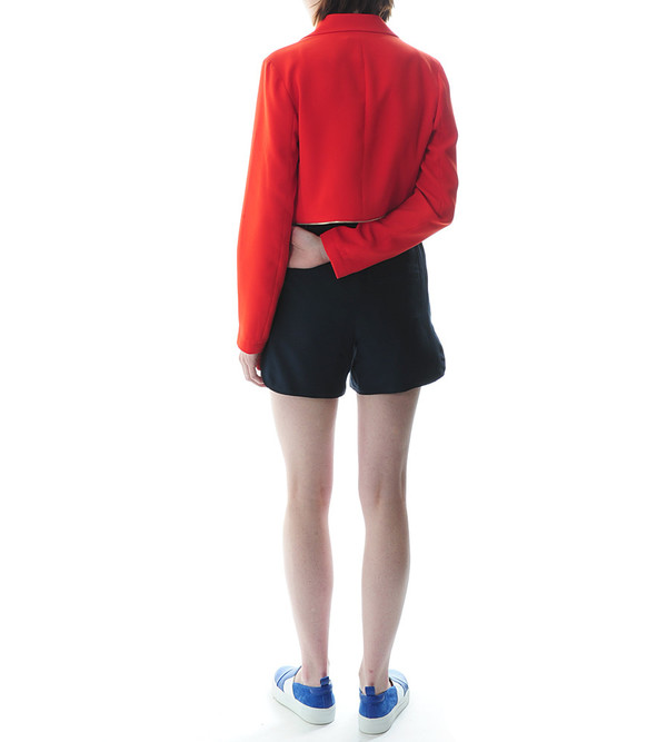 T By Alexander Wang - Poly Drape Suiting Zip Waist Blazer