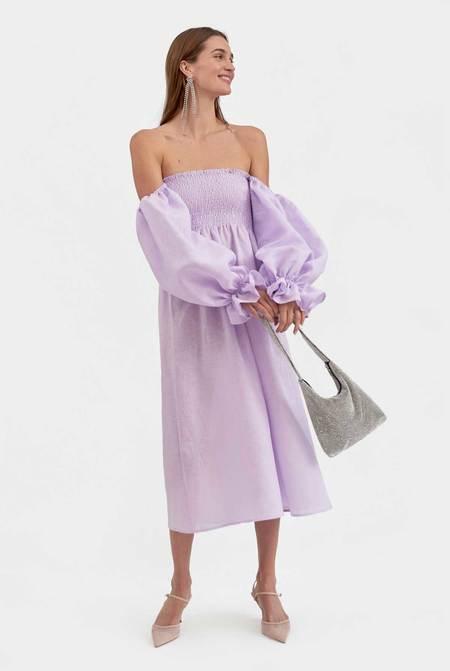 Sleeper Atlanta Linen Dress - Lavender