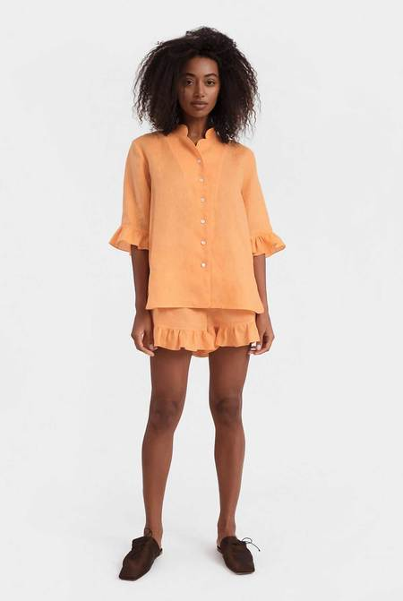 Sleeper Linen Lounge Suit - Coral