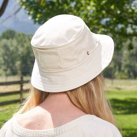 Xenia Telunts Bucket Hat - Undyed Organic Cotton Denim
