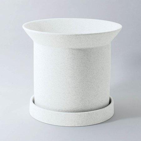 Angus & Celeste Sandstone Plant Pot Small - White
