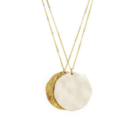 Mabel and Moss Sun + Moon Porcelain Pendant