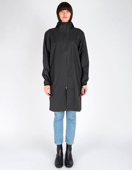 Rains Base Jacket Long Black