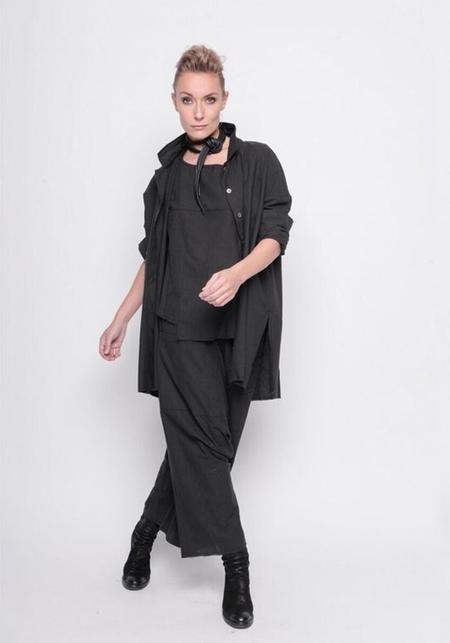 BLACK by K&M Oversized Button Down Blouse