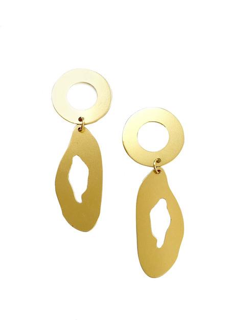 MODERN WEAVING Circle Oval Earrings