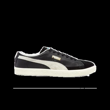 Puma Basket Vintage Suede Shoe - Black/White