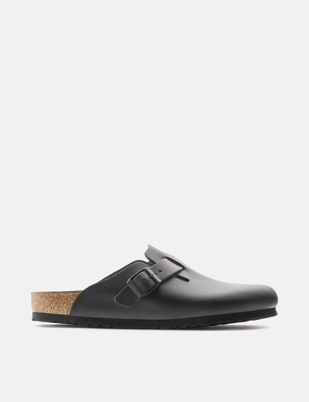 Birkenstock Boston Natural Leather Regular Sandal - Black
