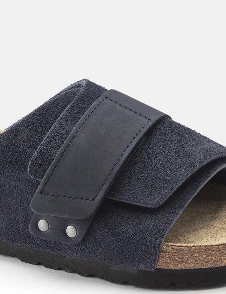 Birkenstock Kyoto Nubuck Regular Soft Footbed Sandal - Navy Blue