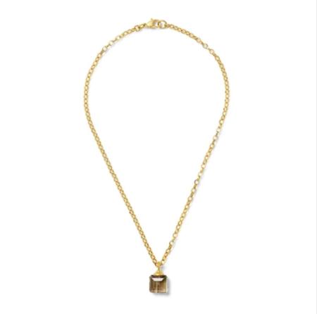 CC & Co Chiclet Seafoam Pendant necklace - Gold
