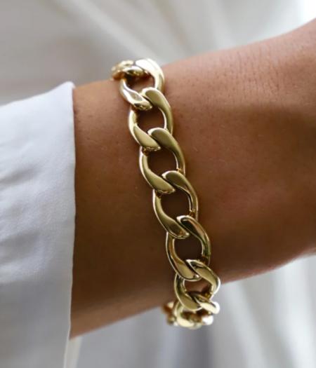 Katie Waltman Statement Cable Chain Bracelet - Gold Plate