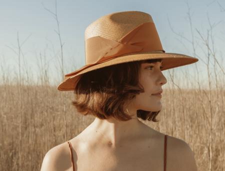 Freya Gardenia Hat - Honey/Butterscotch