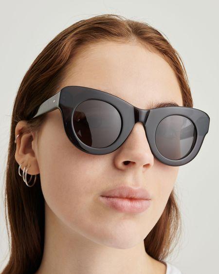 Unisex Sun Buddies Uma Sunglasses - Transparent Grey