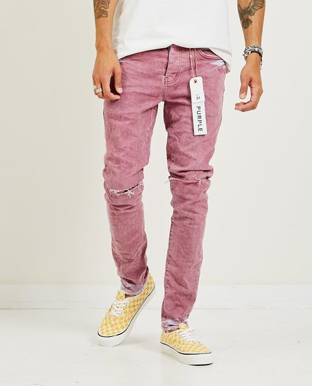 PURPLE P001 Slim Fit Jeans - Coral Light Spray