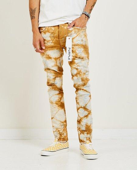 PURPLE P001 Slim Fit Jeans - Indigo Dune Marble