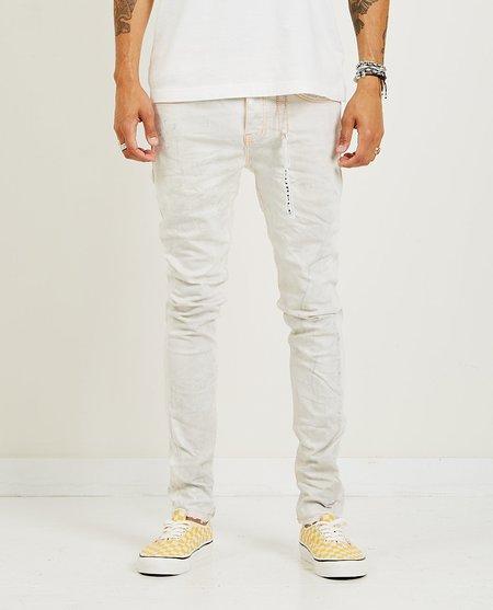 P001 Slim Fit Neon Stitch Denim - White