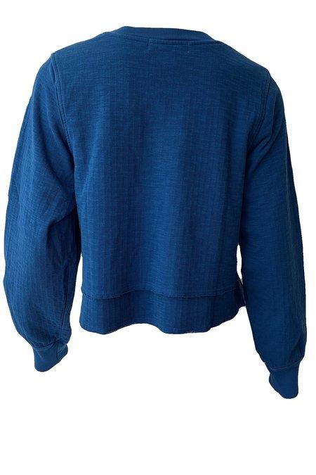 Apiece Apart Athena Tiered Sweatshirt - Sea Blue
