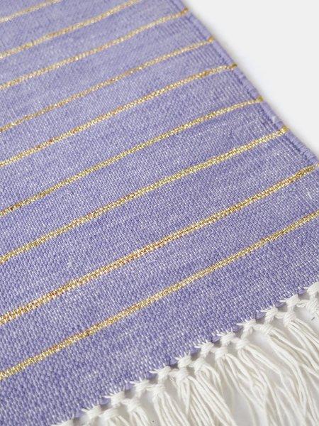 Erica Tanov panja stripe rug - lavender/gold
