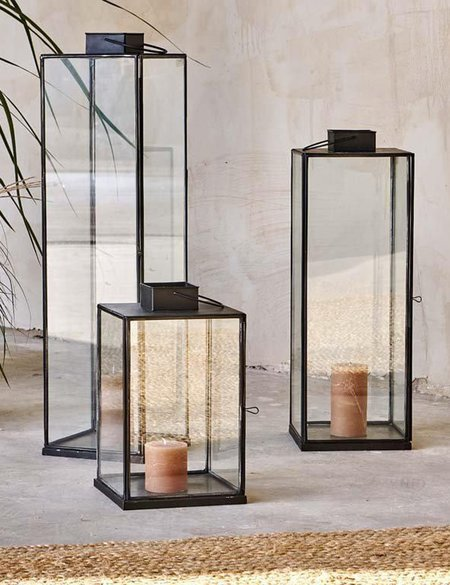Nkuku Large Sia Lantern - Antique Black