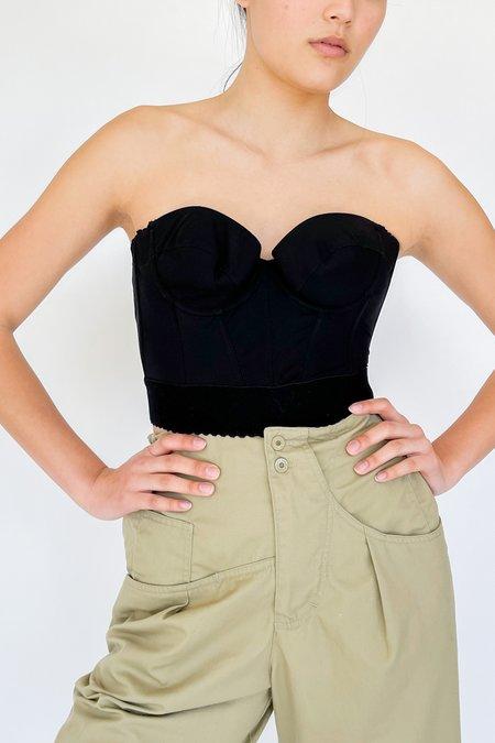 Vintage La Perla Black Bustier Top - black