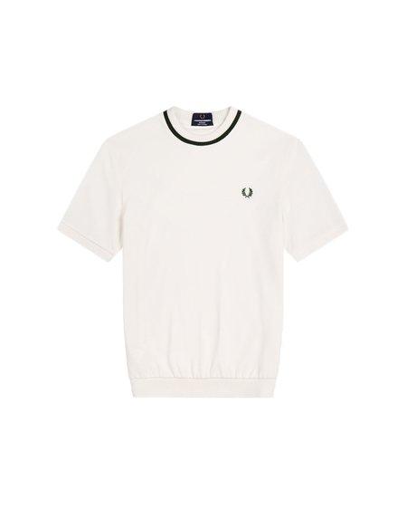 FRED PERRY Reissues De Piqué Round Neck M7 T-Shirt - White 129
