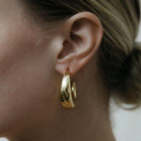 Jonesy Wood Brighton Hoop Earring - 14k gold