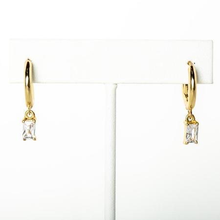 Jonesy Wood Laurel Huggie Hoop Earring - 14k gold plated