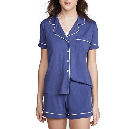 Skin Polly Short Sleeve Pajama Set - Heron Blue