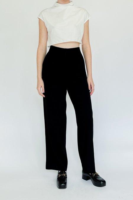 Vintage Armani Black Mid Rise Trousers - BLACK