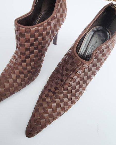 Vintage Bottega Veneta Intrecciato Heels - brown