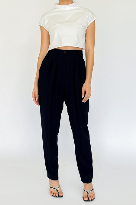 Vintage High Rise Trousers - Midnight