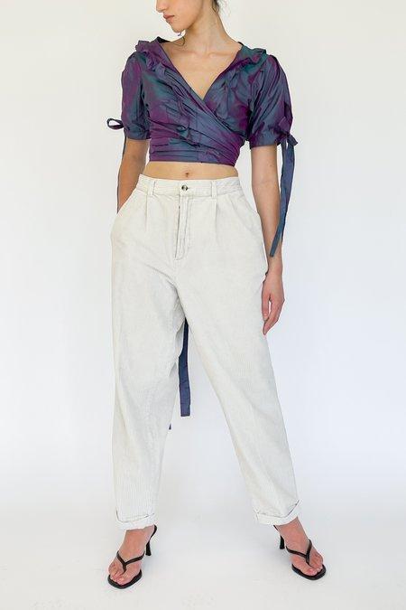 Vintage Corduroy High Rise Pants - White
