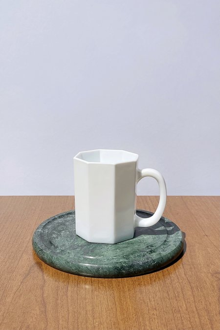 Caroline Holley Porcelain Octagon Mug Set - White