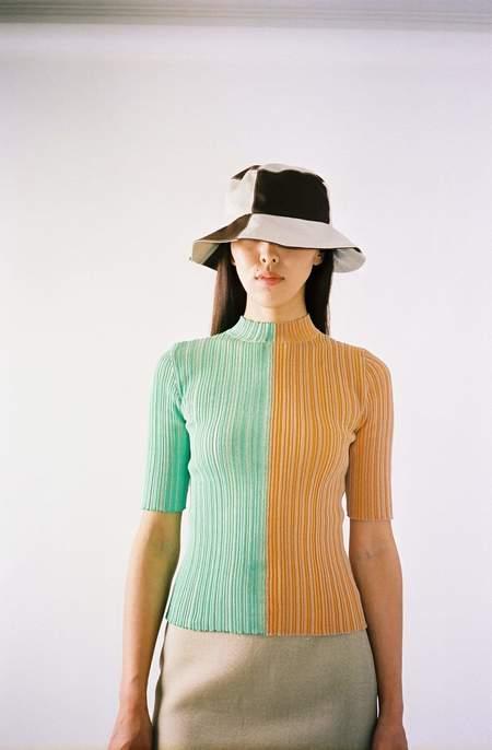 Julia Heuer Fred Top -  Green/Orange